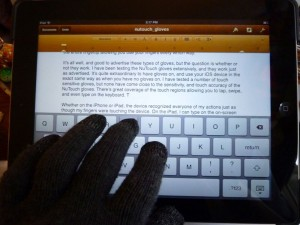 NuTouch Gloves iPad