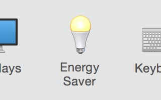 STEP 4 - emporarily Change the Energy Saver Settings