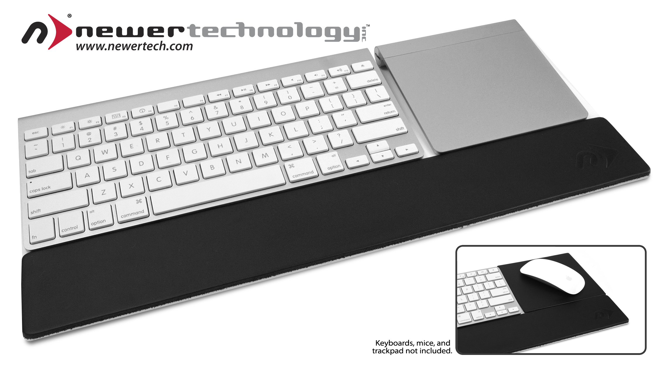 ba0ea1b226a $49.95 MSRP non-slip acrylic tray with padded leather wrist rest transforms  the chaos of multiple Apple input devices into one organized and efficient  work ...