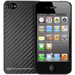NuGuard Carbon Snap Case black for iPhone 4