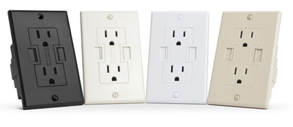 Power2U - AC/USB Wall Outlet
