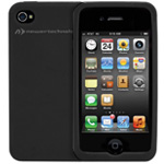 NuGuard Silicone Case black for iPhone 4