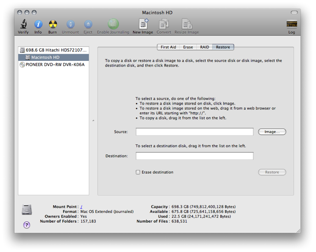 Newer Technology® : Cloning Your Data to A New Hard Drive in Mac OSX