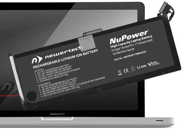 NuPower Batteries for MacBook Pro 17-inch Unibody Early 2009, Late 2009, & Mid 2010 Models