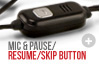 Mic and Pause/Resume/Skip Button