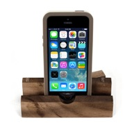 iEcostand Walnut with Apple iPhone