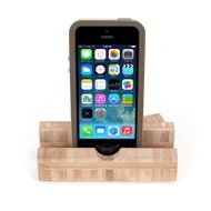 iEcostand Bamboo with Apple iPhone