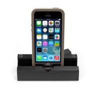 iEcostand Black Pine with Apple iPhone