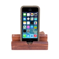 iEcostand Mahogany with Apple iPhone