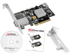 MAXPower RAID mini-SAS 6G-1e1i RAID Controller Card Included