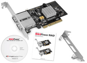 MAXPower RAID mini-SAS 6G-2e2i RAID Controller Card Included